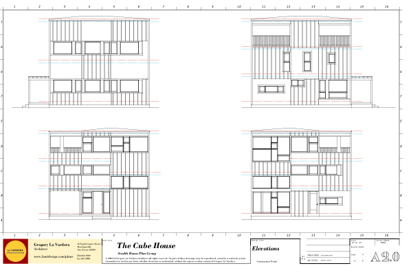 Plan Elevation Of A Cuboid : Modern house plans by gregory la vardera architect