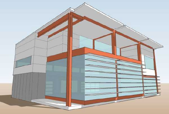 Steel frame homes floor plans architectural designs for Modern steel frame homes