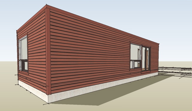 I Am Developing The 3d Model Of The U House Which Will Be Used To Generate  The Design Print Images. The Bedroom Wing Is Already Complete.