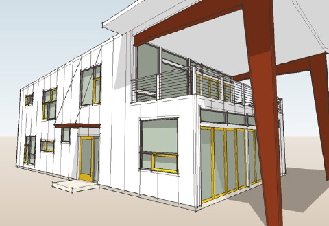 Home Design Blogs on Modern House Plans By Gregory La Vardera Architect  New Ecosteel House