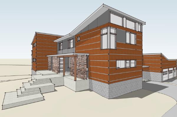 vray minimalist house sketchup bloglamidesigncom - Sketchup Home Design