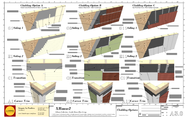 we 39 ve completed a drawing sheet showing a range of 3 cladding options