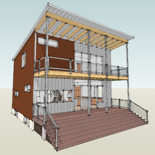 No comments. Modern House Plans by Gregory La Vardera Architect  House model