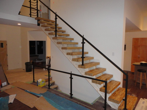 Temporary Handrails For Stair : Modern house plans by gregory la vardera architect may