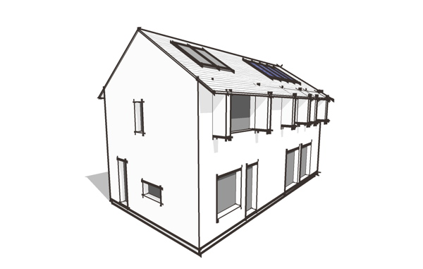 Superb The Lagom 2 Story Will Use The Same Floor Plan But With The Second Floor  Expanded To The Full Footprint Of The House.