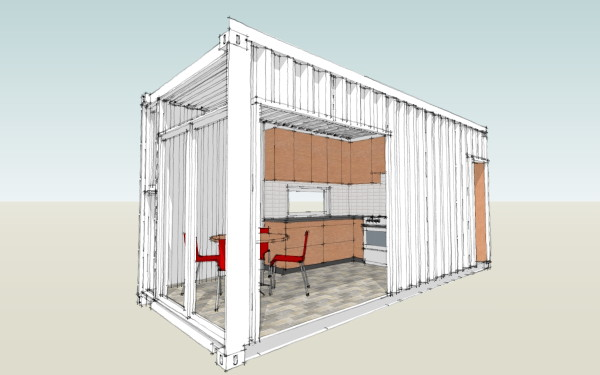 Modern House Plans by Gregory La Vardera Architect: LamiDesign IBU Building  System - mocking up modules