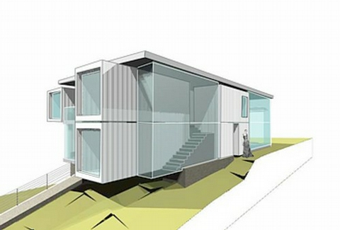 Modern house plans by gregory la vardera architect an ibu Immeuble container