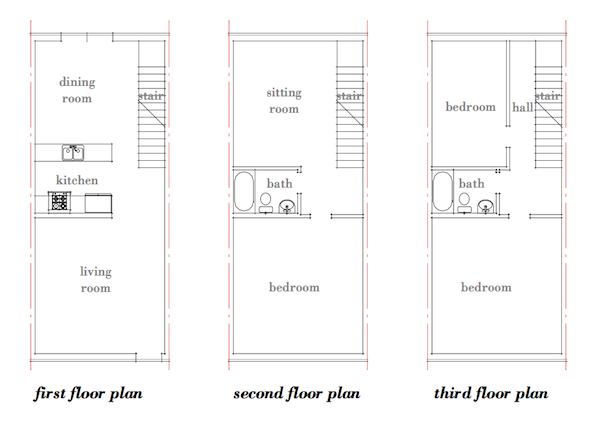 Row house architecture plans house design plans for Row house layout plan