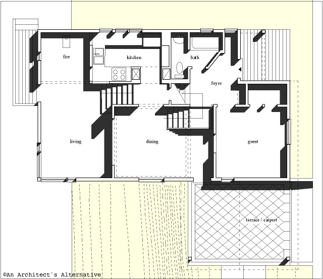 Modern House Plans by Gregory La Vardera Architect: A very interesting