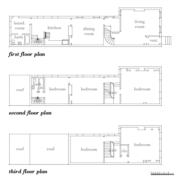 Row house floor plans quotes for Row home floor plans